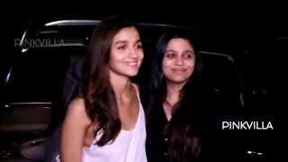 Alia with family catch the screening of Kapoor & Sons