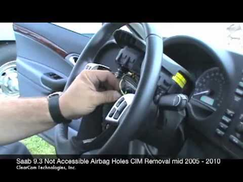 Saab Not Accessible Airbag CIM Removal 2005-2010mov - YouTube