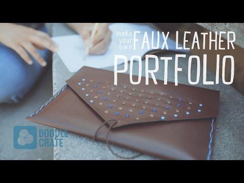 Stitch a Faux Leather Portfolio - Doodle Crate Project Instructions