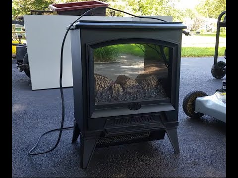 Electralog Dimplex Electric Fireplace Heater with Flame Effect: Part 1 Replacing Bulb & Cleaning Fan
