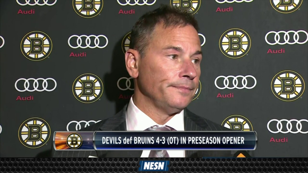 Bruins Drop First Preseason Game To Devils In OT