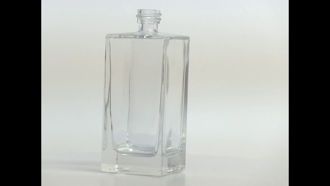 3 4 oz 100ml square clear glass bottle with a heavy base for How to remove bottom of glass bottle