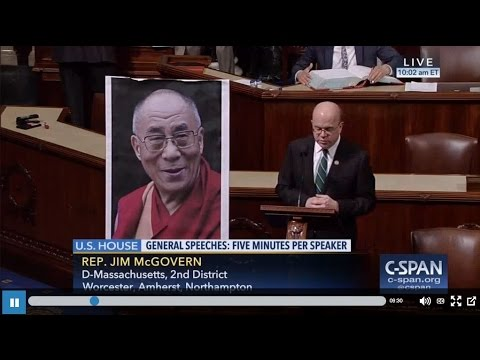 Rep. Jim McGovern and Rep. Ileana Ros-Lehtinen spoke on His Holiness and Tibet - May 2, 2017