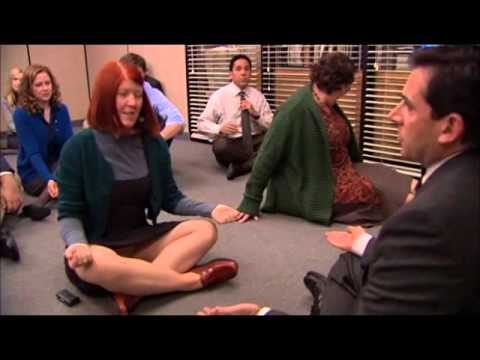 meditation office. the office meditation scene