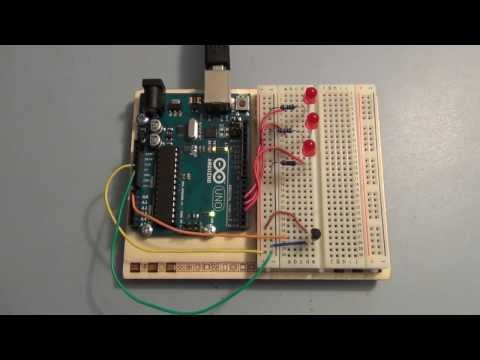Arduino Uno Tutorial analog inputs and measuring temperature
