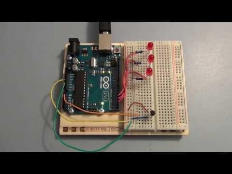 Arduino Uno Tutorial analog inputs and measuring temperature
