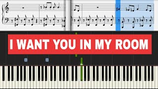 Скачать Boom Boom Boom I Want You In My Room Vengaboys Piano Sheet Music