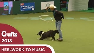 Amazing Cowboy routine in Freestyle Heelwork to Music | Crufts 2018