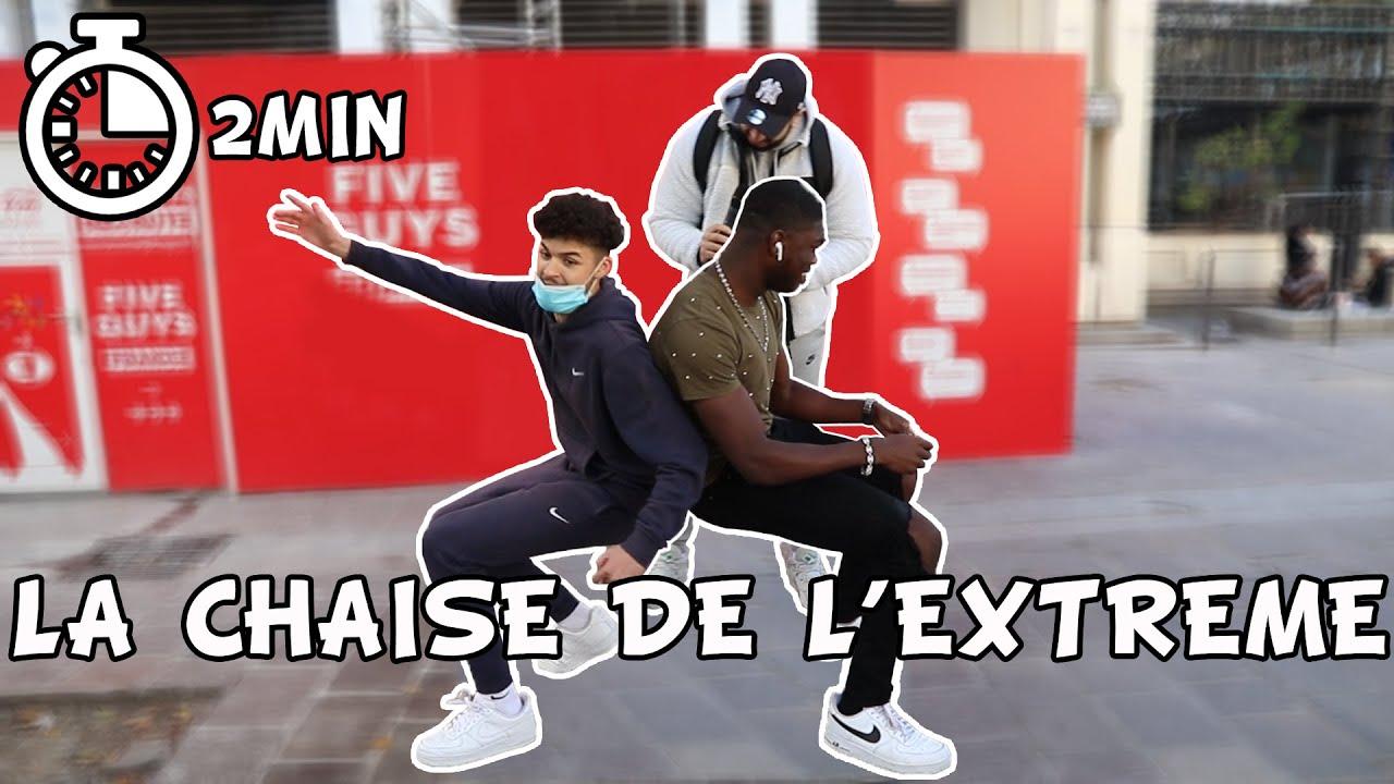 LA CHAISE DE L'EXTREME CHALLENGE #2 - 10€ SI TU REUSSIS - Micro Trottoir
