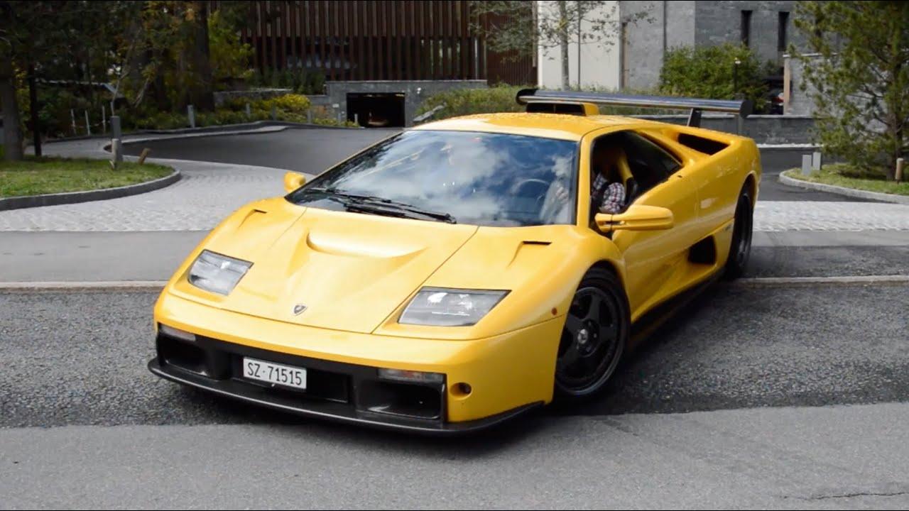 Lamborghini Diablo Gt Start Up And Driving Away Youtube