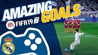 AMAZING Real Madrid goals on FIFA 19!