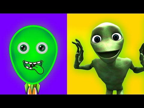 Dame Tu Cosita 🎈 Alien Dance 🎈 Learn Colors with Alien Space Shuttle Song for Kids