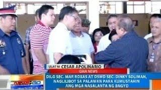 NTG: DILG Sec. Mar Roxas, naglilibot sa Palawan para kumustahin ang mga nasalanta ng bagyo