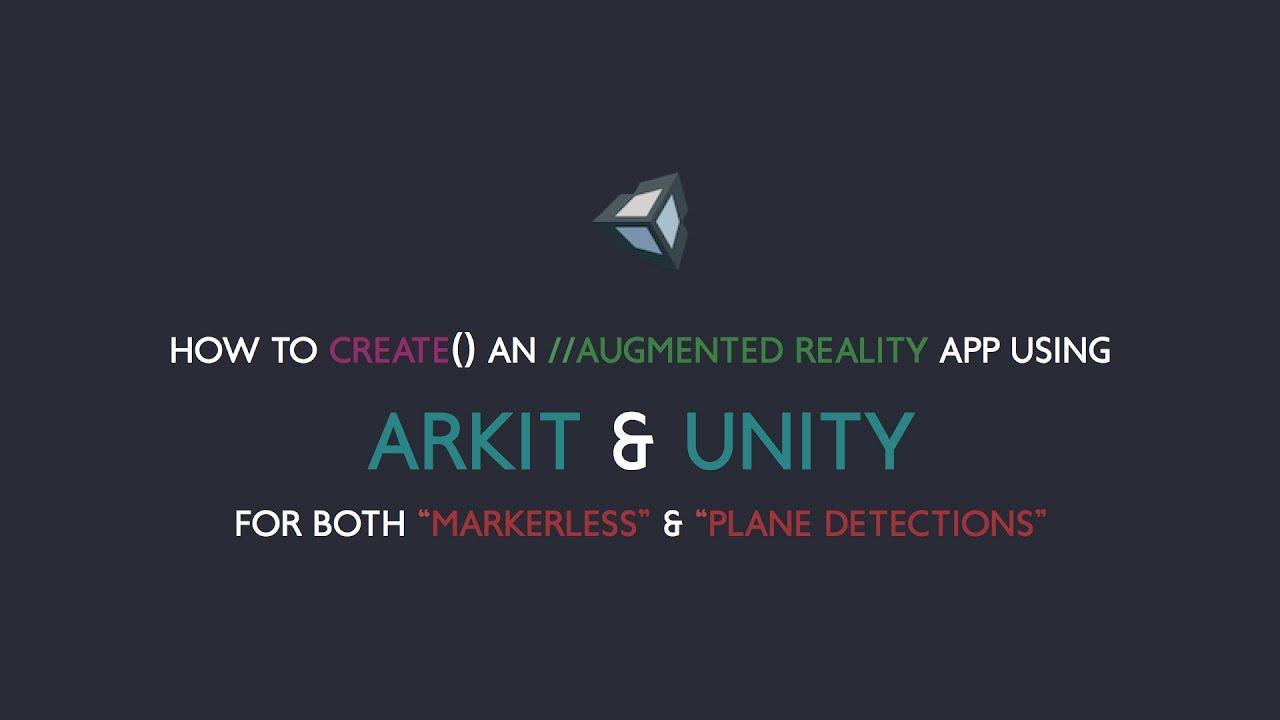 How to create an AR App using ARkit & Unity