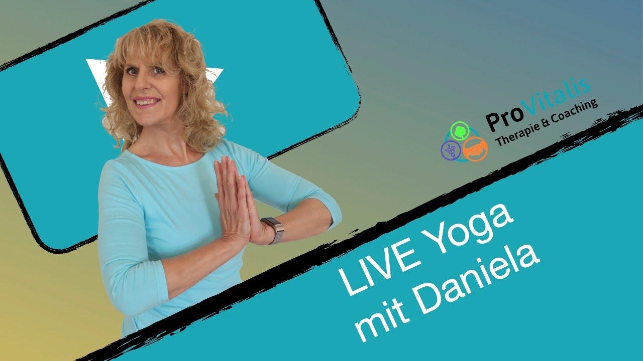 LIVE Yoga mit Daniela DI 04.08.20