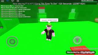 "Roblox ""I Danced with Its Time To die Music of FNAF 3"" Part 1 (More Will Come)"