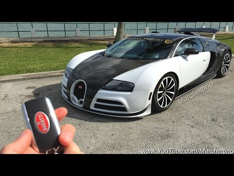 $2.5m Mansory Bugatti Veyron Ride, Rev and Accelerations!