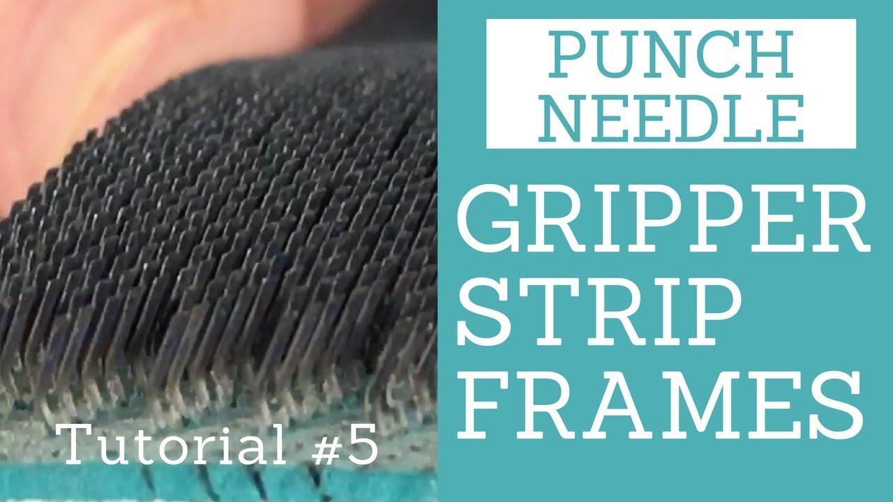 Backing On A Gripper Strip Frame