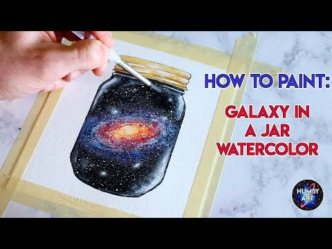 GALAXY IN A JAR: Watercolor painting process tutorial
