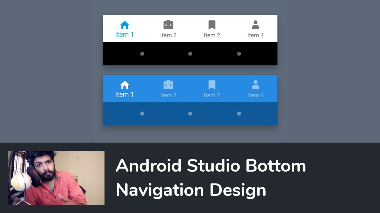Android Bottom Navigation Bar / View / Tabs with Fragments - Android Studio  Tutorial