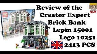 Review Brick Bank - Lepin 15001 - Lego 10251 English