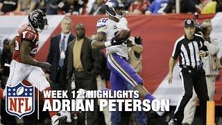 Adrian Peterson Highlights (Week 12) | Vikings vs. Falcons | NFL