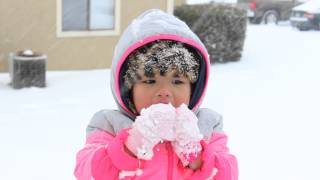 Eating snow ~