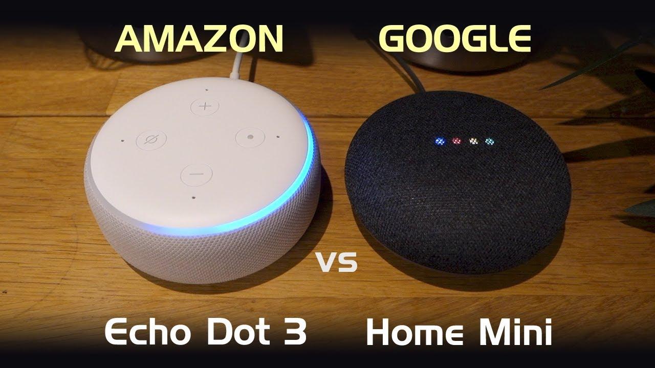 amazon echo dot 3rd gen vs google home mini youtube. Black Bedroom Furniture Sets. Home Design Ideas