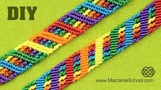 Colorful Rainbow Bracelet Tutorial |  Macrame School