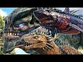 Exercito De GodZilla Do Grito VS KingTitan Colossus Dinossauros Ark Survival Evolved PT BR mp3