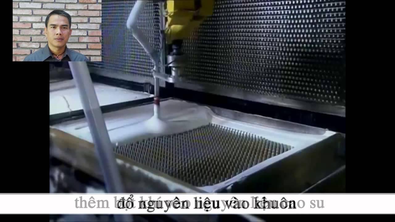 Image result for quá trình sản xuất đệm cao su