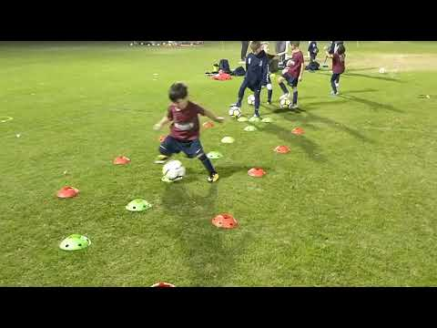 Hayes (4yeas-old) working cones