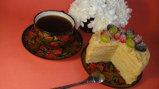 Вкуснейший торт Наполеон с карамельным кремом Муслин.
