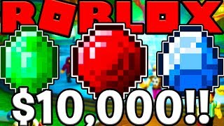$10,000 IN RUBY, EMERALDS AND SAPPHIRES - ROBLOX SPACE MINING TYCOON #5