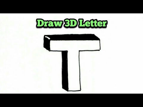 How to draw letter t in 3d very easy drawing of 3d letter t how to draw letter t in 3d very easy drawing of 3d letter t simple 3d letters drawings altavistaventures Images