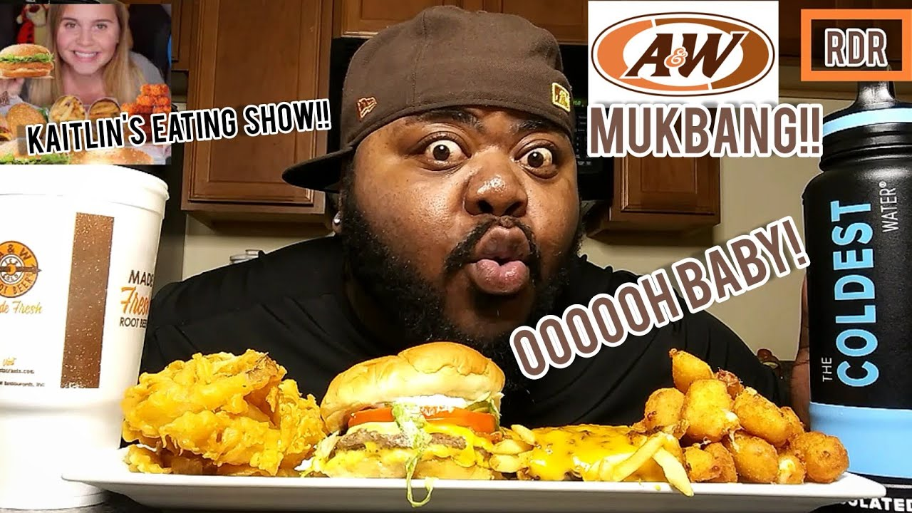 A&W MUKBANG!!!(COLLAB with Kaitlin Eating Show)!!