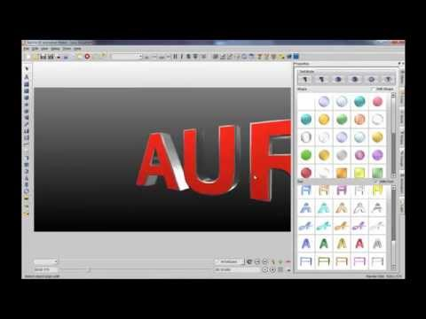 3D Flash banner maker with Aurora 3D Animation Maker