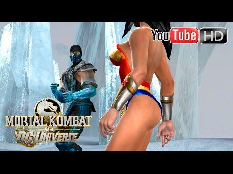Mortal Kombat VS DC Universe [Xbox 360] - ✪ Wonder Woman Vs Sub Zero ✪ | Full HD