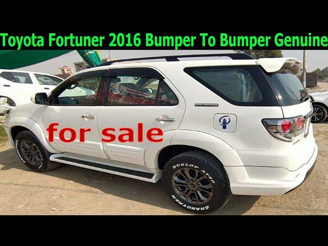 toyota fortuner 2016 bumper to bumper genuine for sale