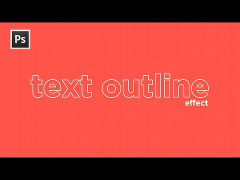 Text Outline Effect - Adobe Photoshop CC Tutorial! (2018) — STEVEN VAN