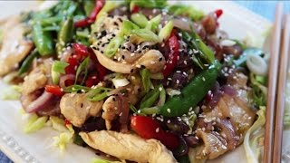 Chicken Recipes - How To Make Garlic Chicken Stir Fry