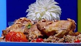 ايمان عماري تحضر الدجاج المحشي بأرز الأوزي