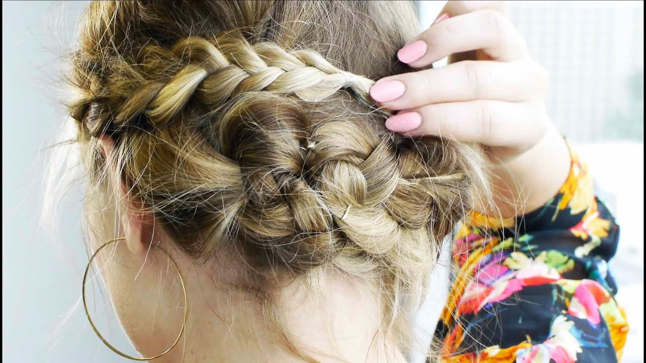 Messy Braided Updo for Short Hair | Tutorial | Milabu ...