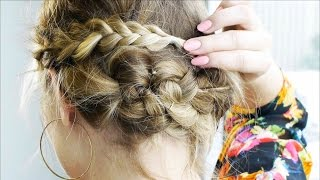 Messy Braided Updo for Short Hair | Tutorial Thumbnail