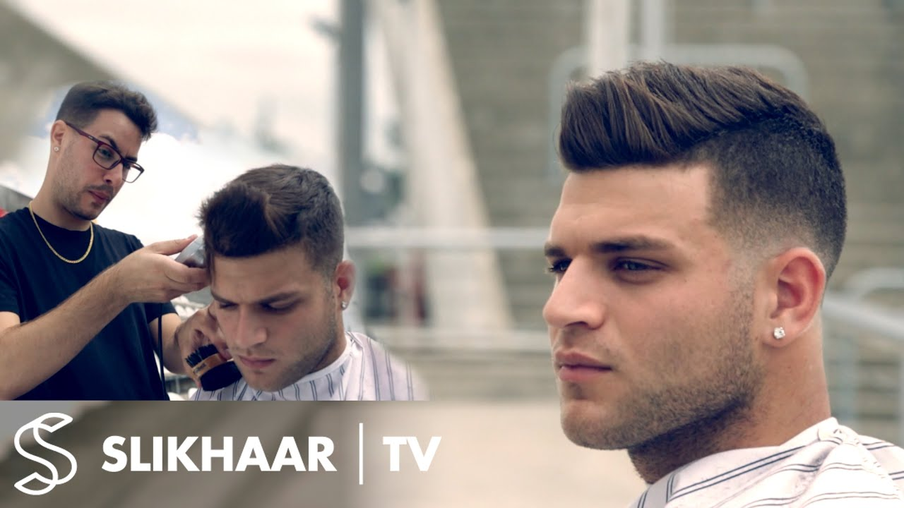 men's fade hairstyle