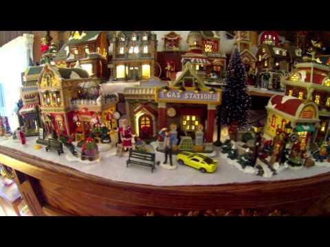 Beautiful Fireplace Mantle Christmas Village