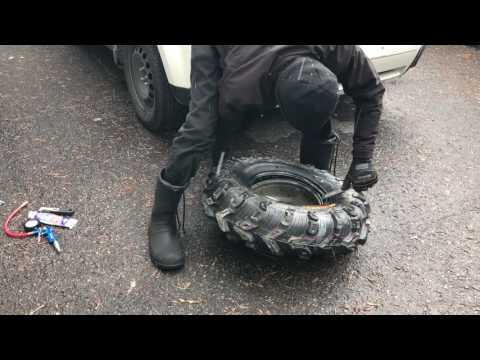 Unmount and mount an atv tire on rims in 20 minutes