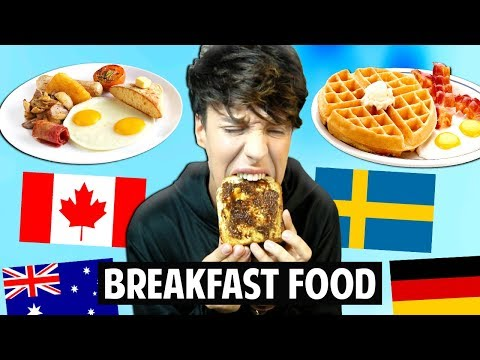 Trying BREAKFAST FOOD Around The World