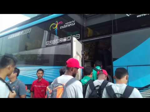 UNIK !  Bikin Heboh, Suara Klakson BUS TIMNAS Indonesia
