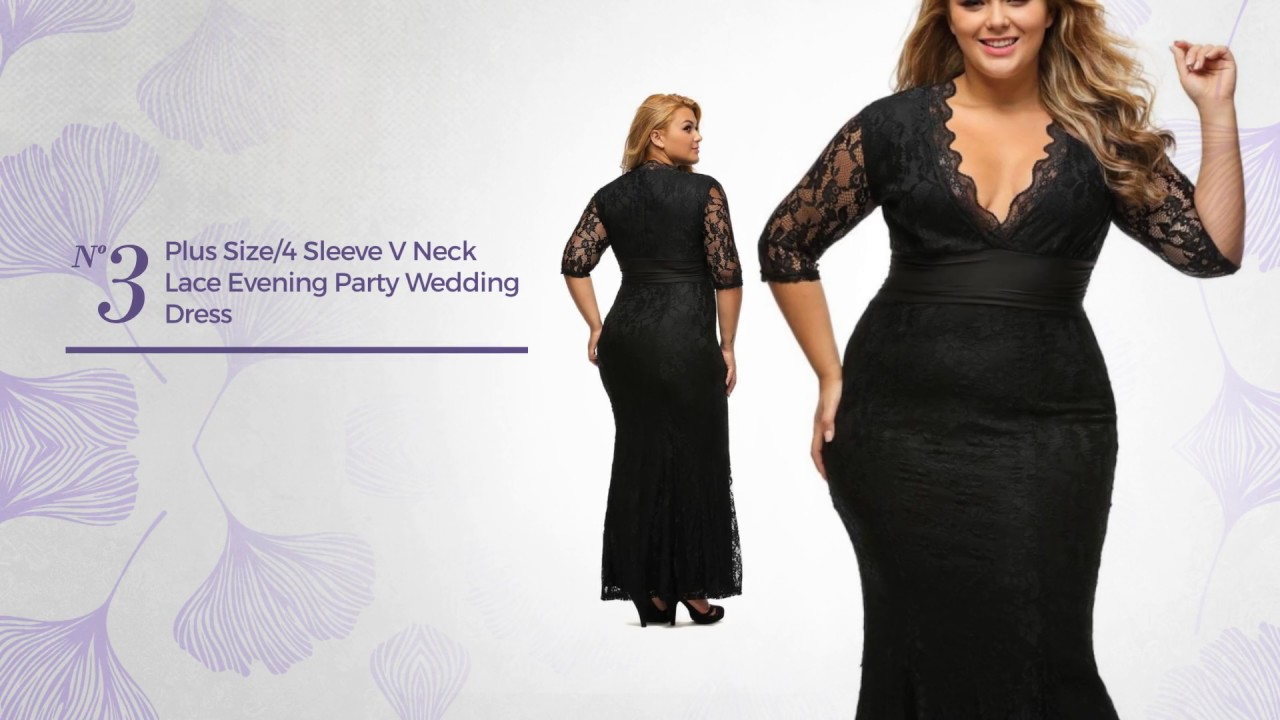 Outstanding Plus Size Evening Dresses - YouTube